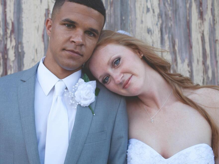 Evan and Rita Woodson started dating as high school seniors in Owasso, Okla. They were married in 2012.