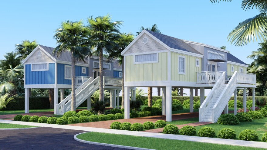 A rendering of the Seahorse cottages proposed for Big Pine Key.