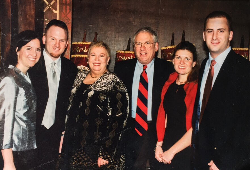 The Josephson family in 2001, after Dixie (third from left) was told she had cancer.