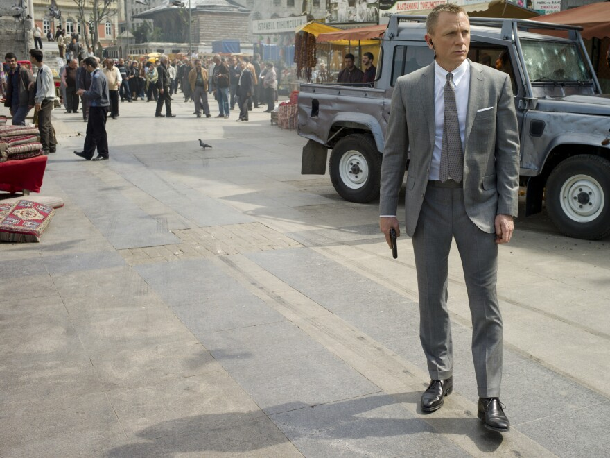 In his three Bond films, actor Daniel Craig has created a portrait of a darker, damaged 007 — evidence of the enduring character's mutability, according to Powers.