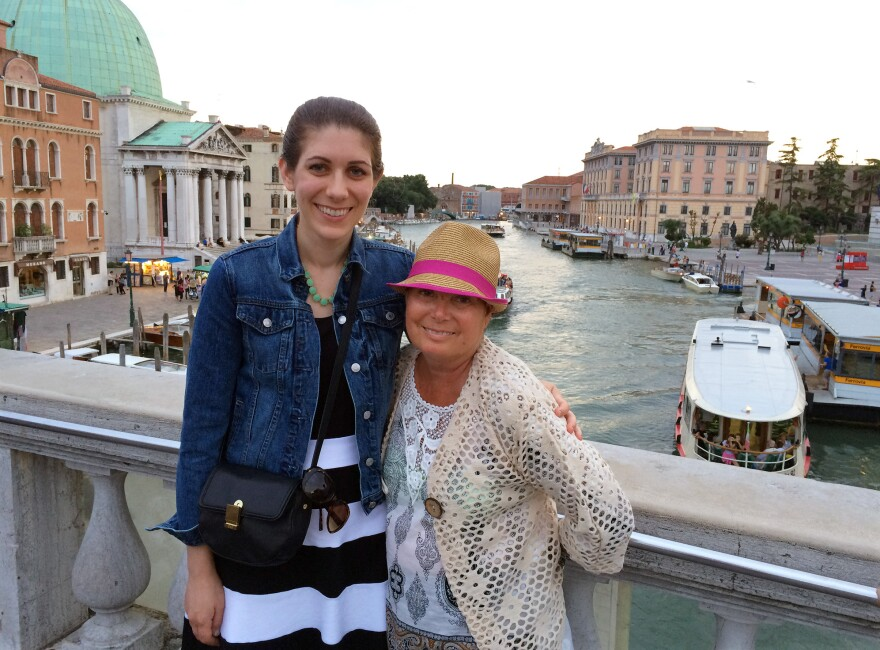 Kendra and her mother Brenda traveling in Italy.