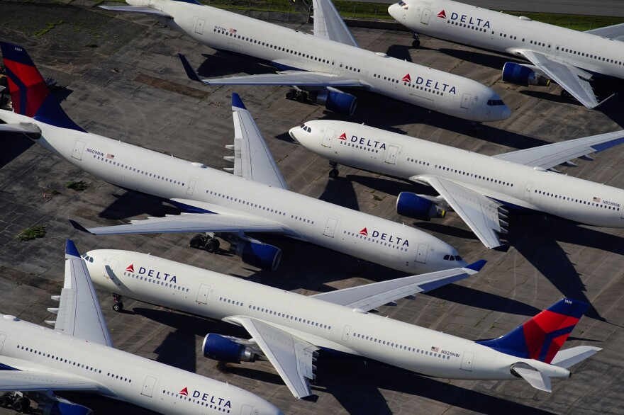 Delta Air Lines is flying only about 25% of the schedule it did last summer.
