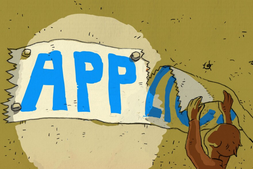 """App"" is shortened from ""application."""