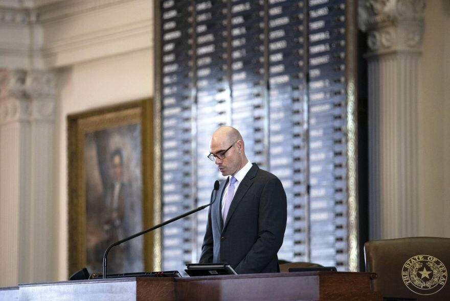 House Speaker Dennis Bonnen announces committee chairs at the state capitol. Jan 23, 2019.