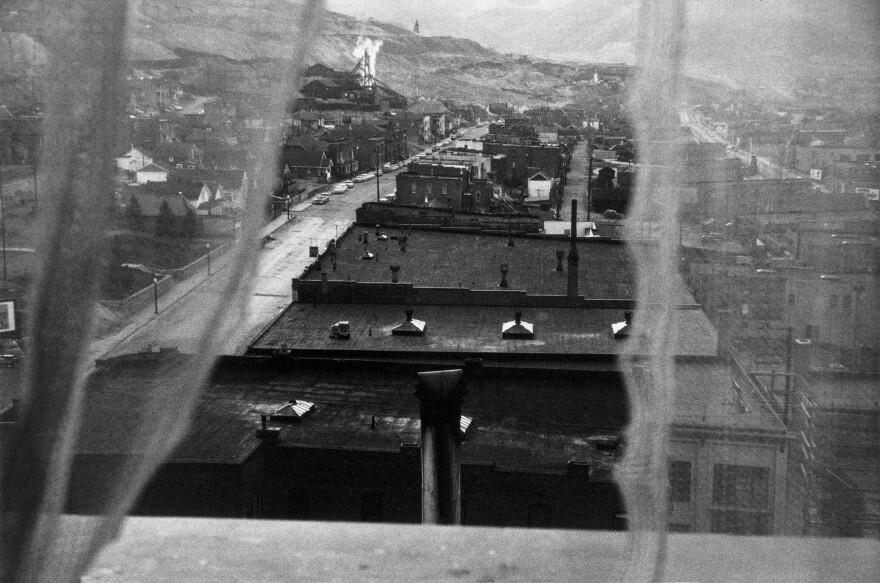 <em>View from hotel window – Butte, Montana, </em>1956.