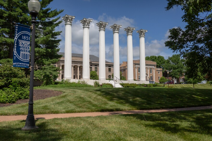 Westminster College opened in Fulton, Missouri, in 1851. But like many small, rural colleges dotting the Midwest, it faces an uncertain future. Here, the campus on July 2, 2020.