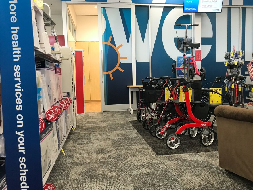 CVS's health hubs, like this one in Spring, Texas, offer a wider array of health products and equipment than the company's typical drugstore.