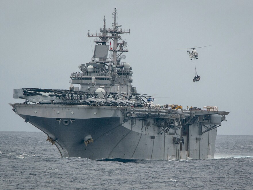 The U.S. can prove that the amphibious assault ship USS Boxer destroyed one of Iran's drones, a senior Trump administration official says.