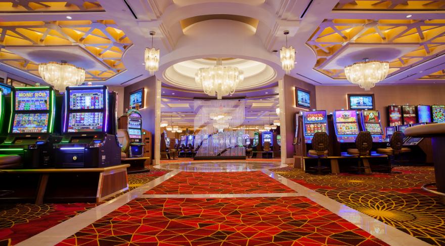 casino floor with slot machines