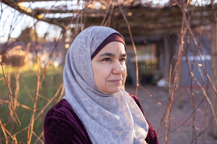 A portrait of Huda Attar, the photographer's beloved Mama.