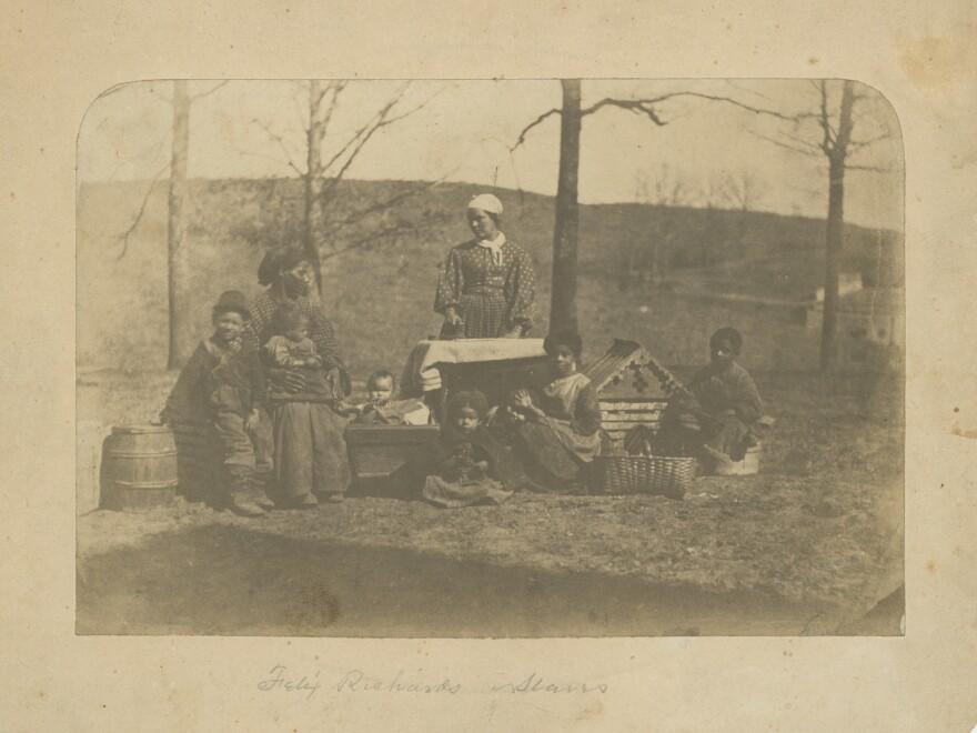Enslaved women and their children near Alexandria, Va., 1861-62.