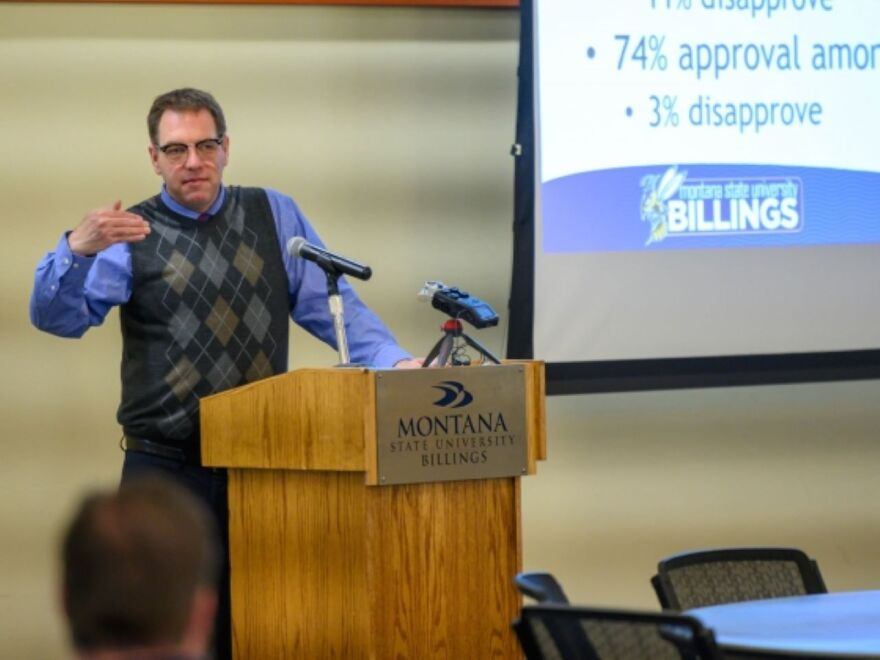 Dr. Jason M. Adkins presents Mountain States Poll at Montana State University Billings October 23.