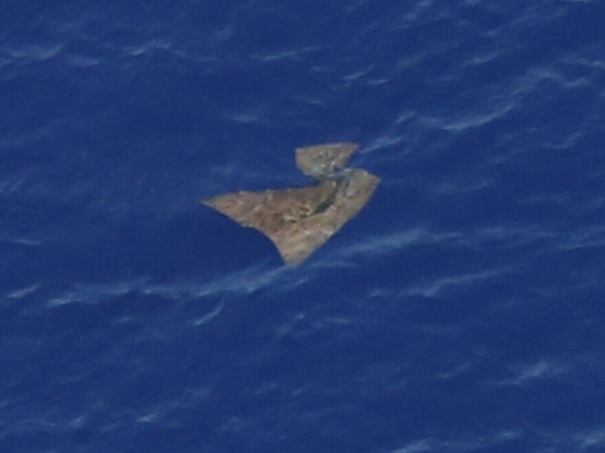 One of the objects searchers have spotted floating in the southern Indian Ocean as they look for Malaysia Airlines Flight 370. Nothing they've seen so far has been connected to the missing jet.