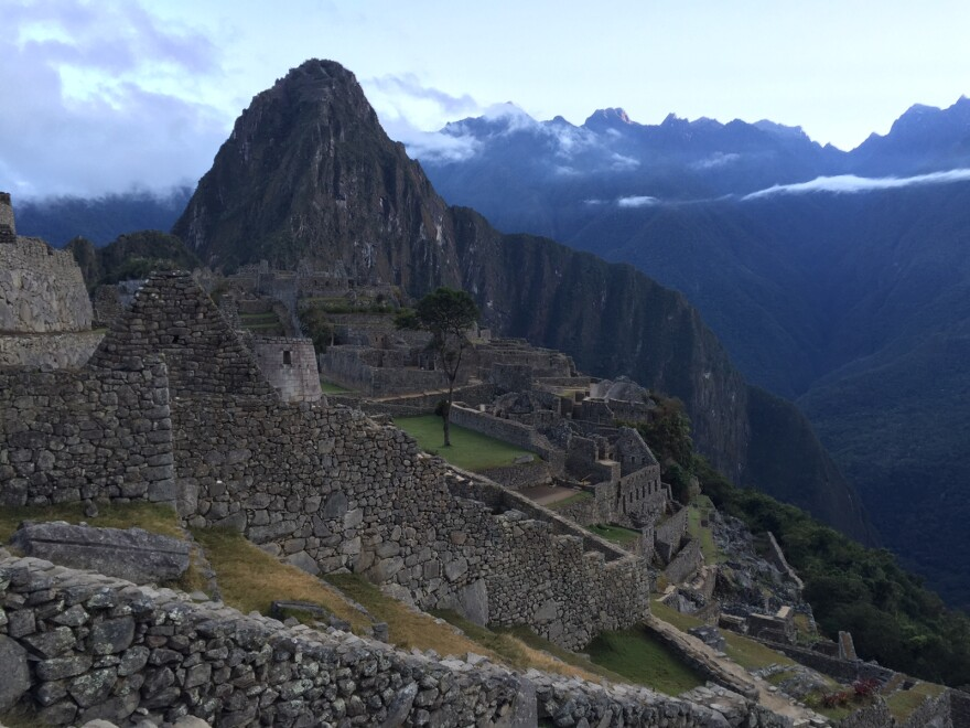 Karyn's view of Machu Picchu after reaching the top this weekend. (Karyn Miller-Medzon/Here & Now)