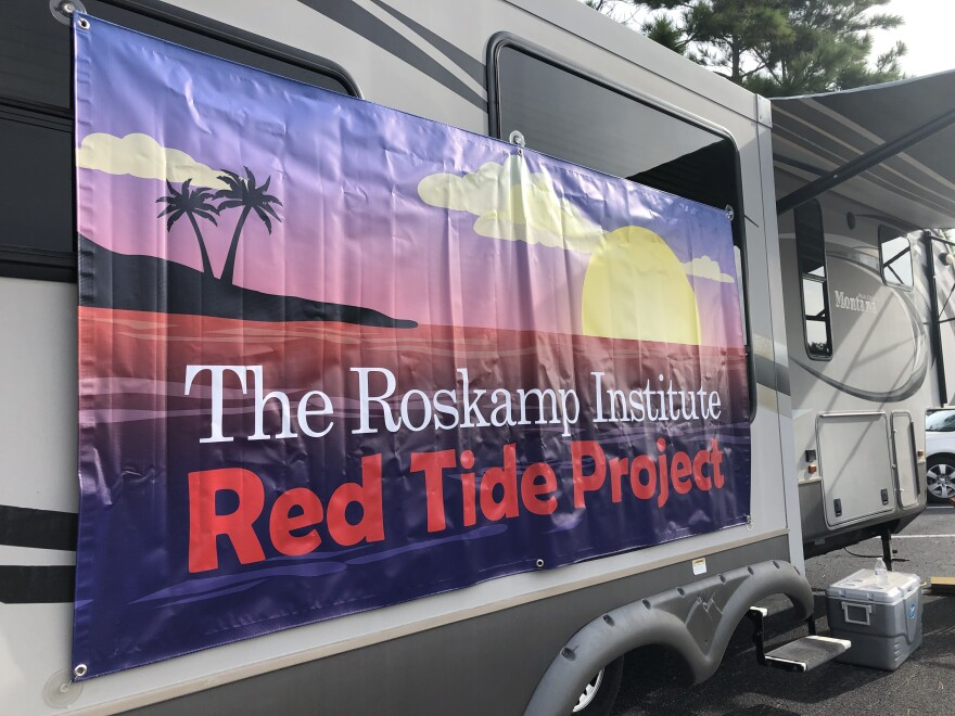 The Roskamp Institute occasionally has a mobile blood bank set up on weekends to collect samples from local volunteers. Jessica Meszaros/WUSF