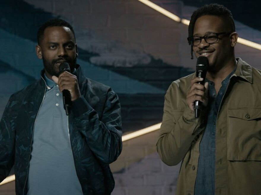 """""""You know, my personal mission is to show somebody their new favorite comic,"""" the comedian Baron Vaughn, left, said. """"That is my personal mission. If people watch the show and walk away with, I really liked that comic and then will follow that person's career for the rest of their career, then my job is done."""""""