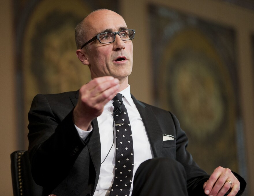 Arthur Brooks, seen speaking at Georgetown University in 2015, has a new book called <em>Love Your Enemies: How Decent People Can Save America from the Culture of Contempt.</em>