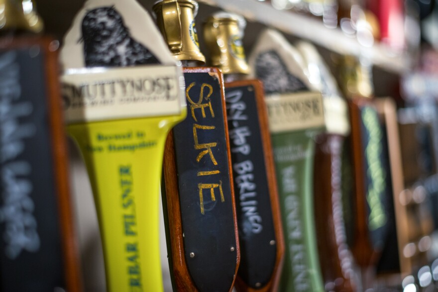 """At the Portsmouth Brewery in New Hampshire, the kelp beer """"Selkie"""" is sold both on tap and in bottles."""