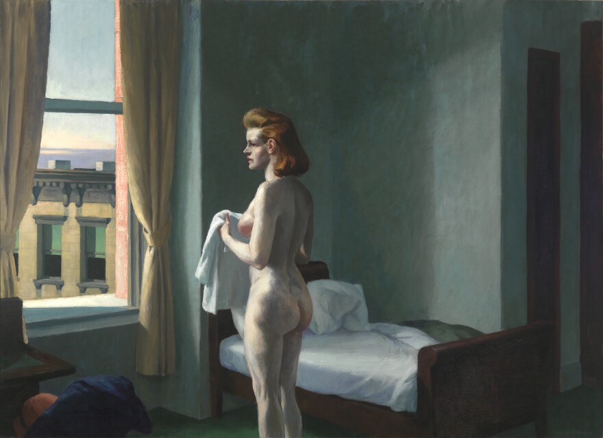 <em>Morning in a City,</em> oil on canvas, 1944
