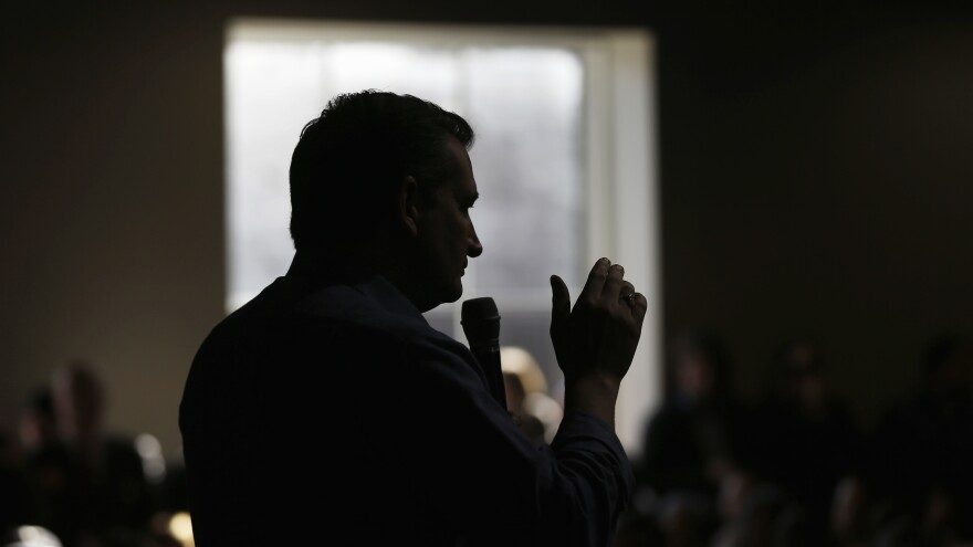 Sen. Ted Cruz, R-Texas, speaks during a campaign stop Tuesday. His third-place New Hampshire finish has largely been overlooked, but he will contend strongly in the coming slew of Southern states.