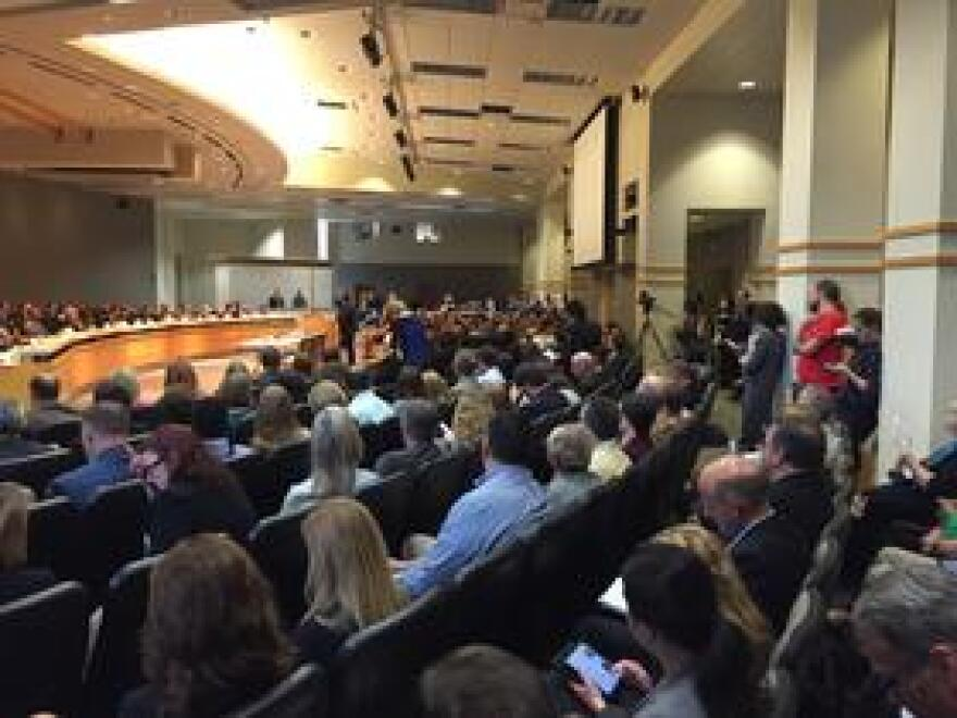 Standing room only as House lawmakers discuss a proposal to eliminate Visit Florida and Enterprise Florida.