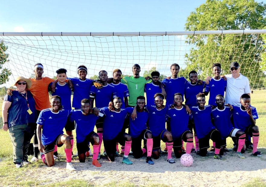 reVision, a soccer team comprised of African immigrants that helps refugees in Houston integrate into the community. (Courtesy of reVision)