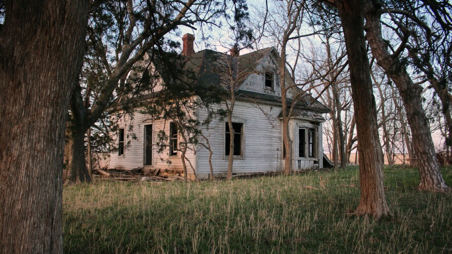 An abandoned farmstead near Wheaton, Kans.