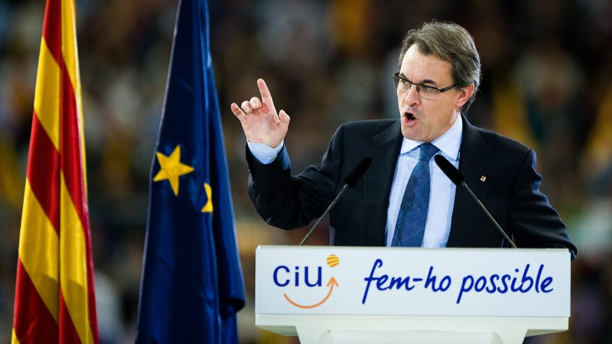 Catalonia's President Artur Mas is presiding over the region's nonbinding independence vote on Sunday. Spain opposes the ballot and insists that the Catalonia will remain part of Spain.