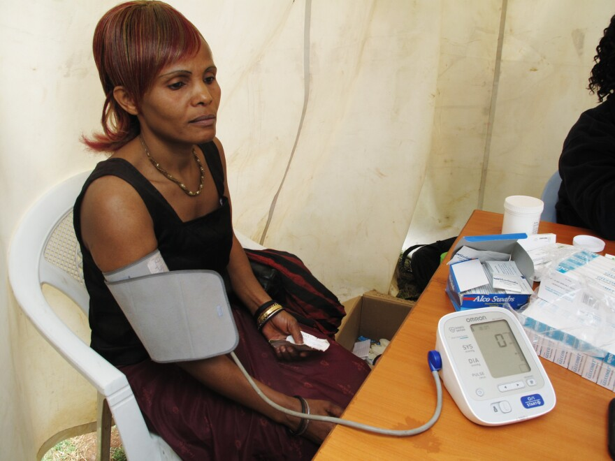 Esther Okaya has a health problem that is a growing concern in Sub-Saharan Africa: high blood pressure.