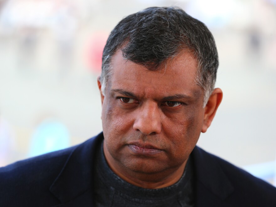 Tony Fernandes, group chief executive officer of AirAsia Bhd., pauses during a Bloomberg Television interview during the 51st International Paris Air Show in Paris in 2015.