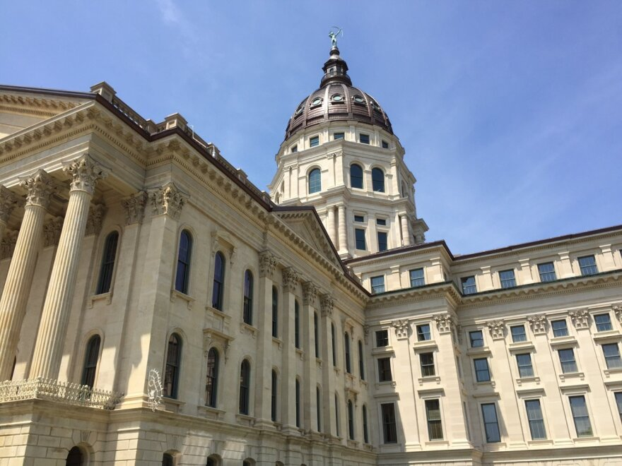 The Kansas Capitol building.