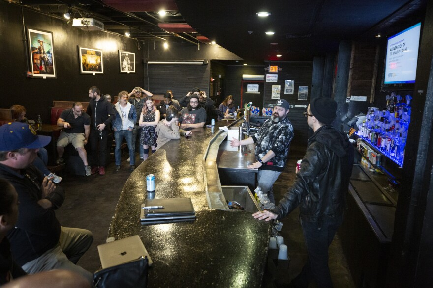 Music industry members in the Red River Cultural District met to discuss organizing for SXSW among the local Austin music community after the festival's official cancellation.