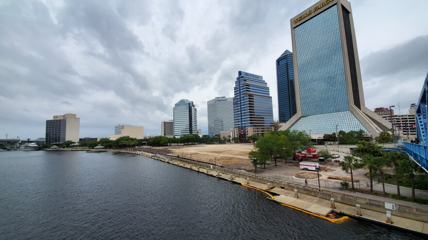 A landmark of Downtown Jacksonville's hospitality industry was recented demolished. This April 18 photo shows the area where the Jacksonville Landing previously stood.