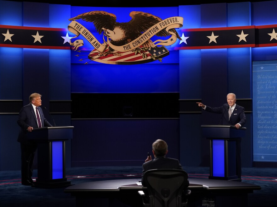 President Trump ran roughshod over debate moderator Chris Wallace and his Democratic opponent Joe Biden — and crossed many lines in the process.