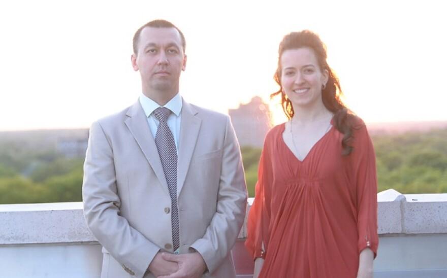 photo of Gata Kamsky and Irina Krush