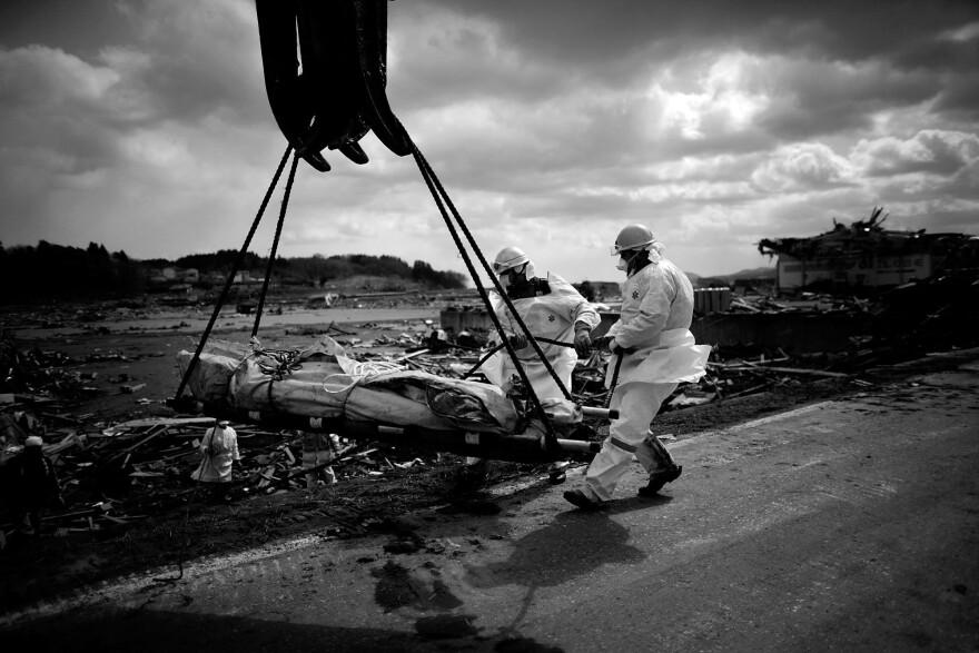 The devastated region of Rikuzentakata, in Japan's Miyagi prefecture, after a tsunami ravaged the area.