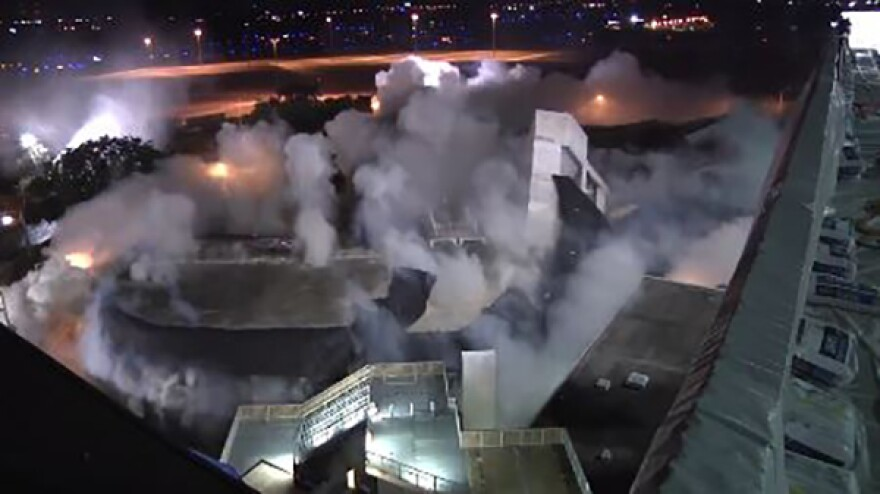 In a matter of seconds early Tuesday morning, an implosion marked Tampa International Airport's next step toward executing its master plan and expansion.