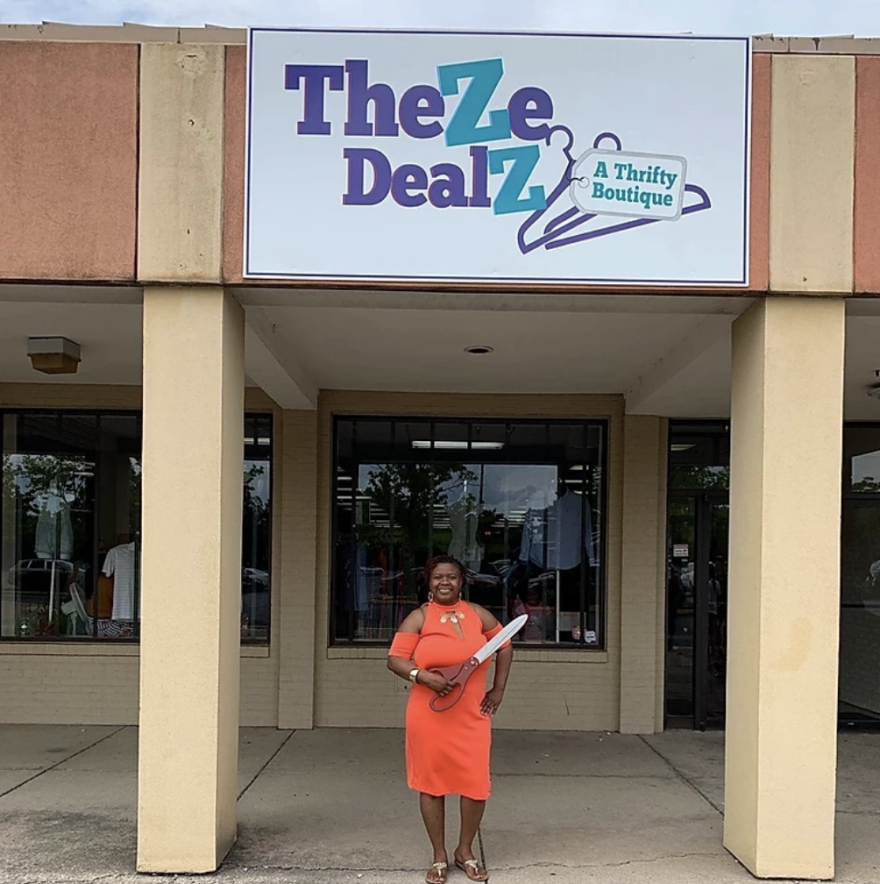 Zontaye Richardson owns the West Dayton thrift store Theze Dealz A Thrifty Boutique.