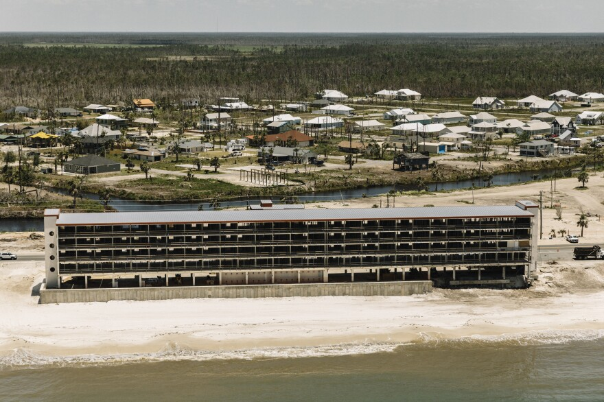 Rebuilding has begun on El Governor Motel on Mexico Beach.