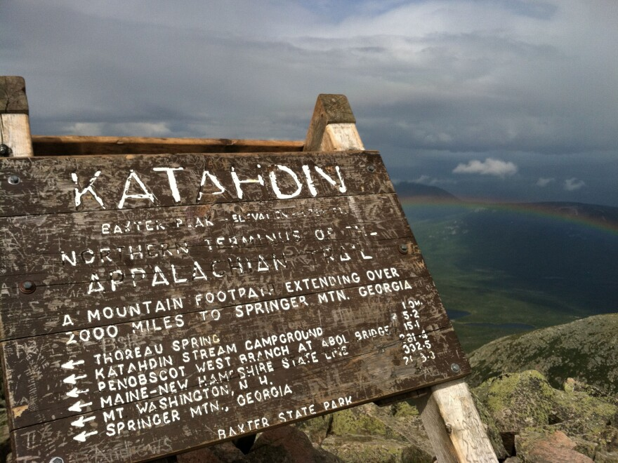 Maine's Mount Katahdin is the northern end of the Appalachian Trail.