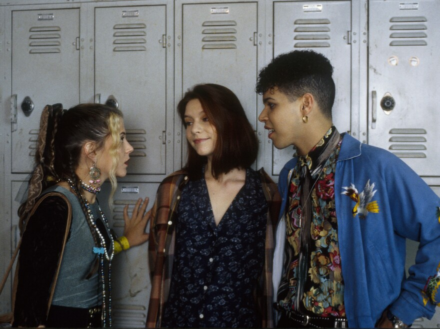 An episode of <em>My So Called Life</em> from Oct. 20, 1994: Claire Danes, center, with A.J. Langer and Wilson Cruz.