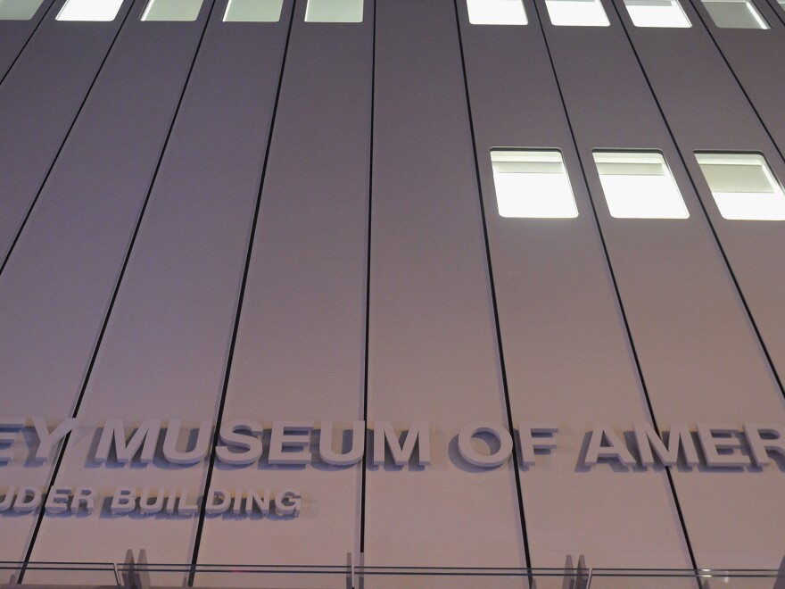 An exterior view of the Whitney Museum of American Art last October in New York City.