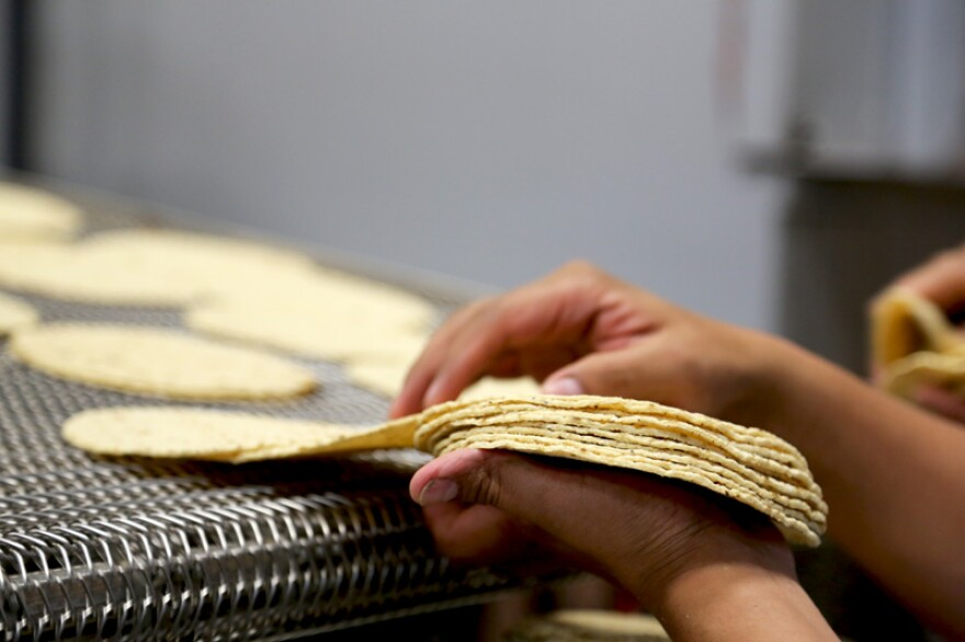 The Food and Drug Administration doesn't allow fortifying products like tortillas made from corn masa flour with folic acid, a B vitamin..
