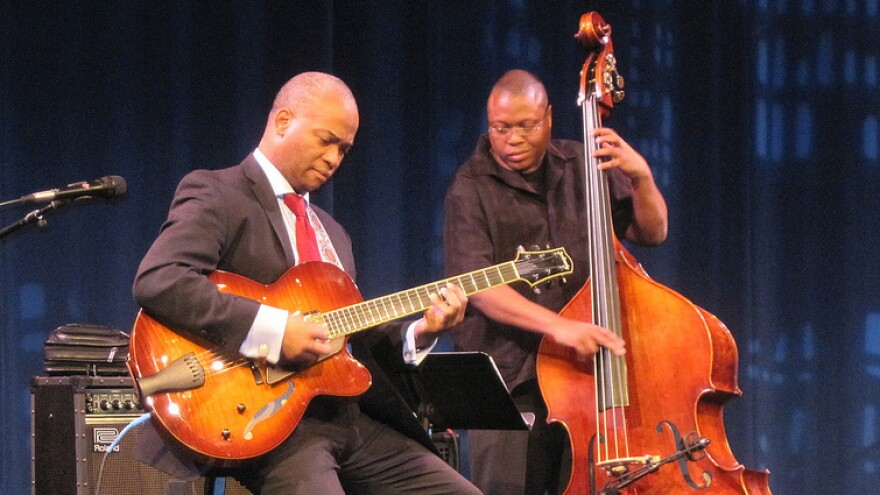 Russell Malone (left) and Tassili Bond perform at the Kennedy Center.