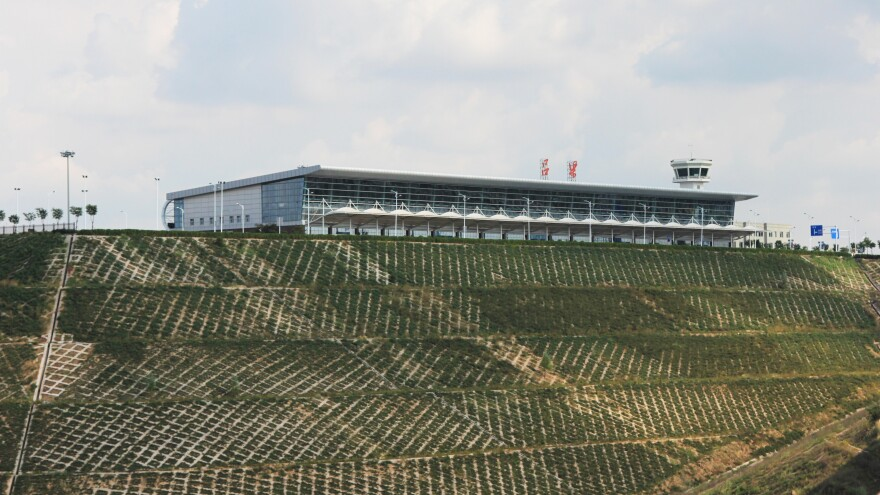 Luliang's airport opened in January 2014. Today the $160 million facility handles just three to five flights a day.
