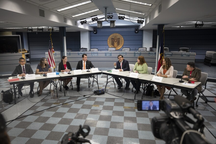 Austin Independent School District officials and school board memebers