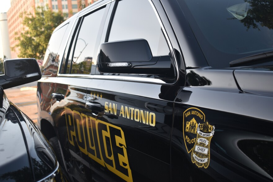 File photo: A San Antonio Police Department vehicle sits parked on June 3, 2020.