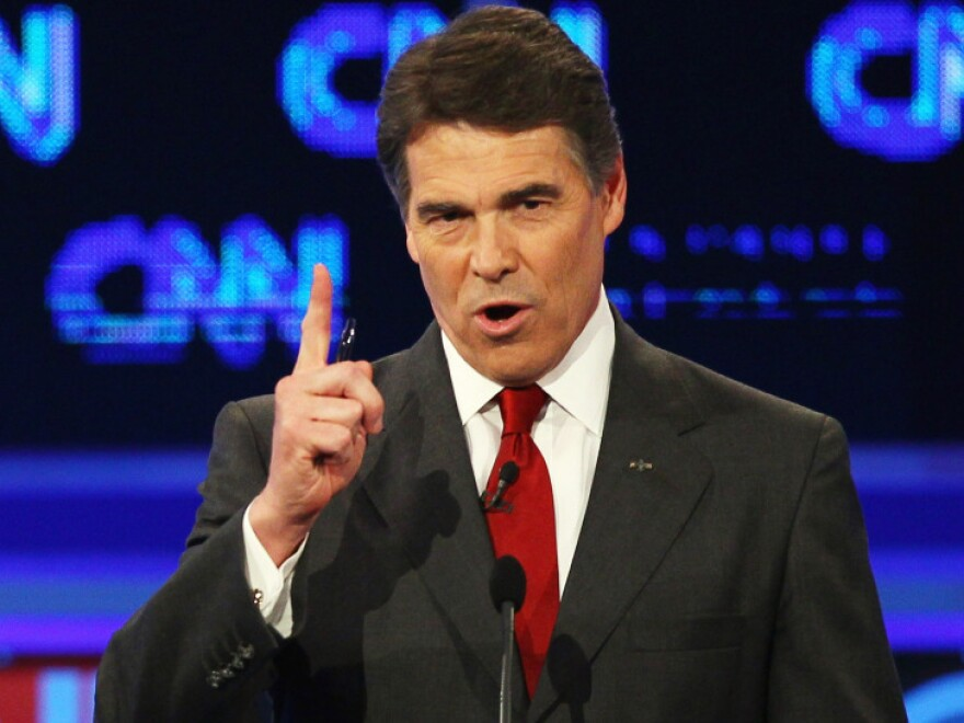 Republican presidential candidate Rick Perry's ties to campaign donors have come under more scrutiny since Monday night's debate in Tampa, where he defended taking a contribution from a drug company and then mandating use of the company's new vaccine.