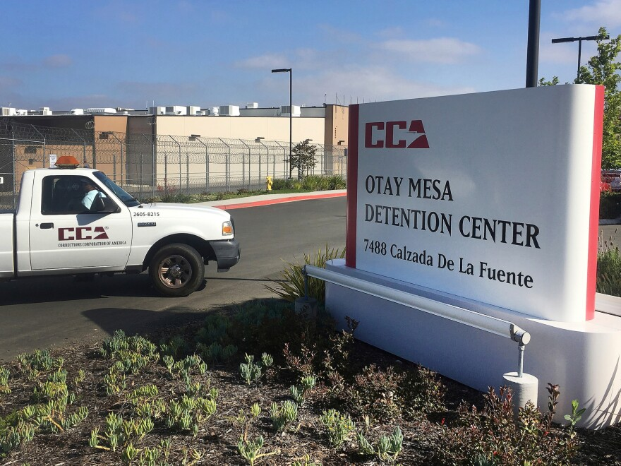 An immigration detainee has died of COVID-19 at the Otay Mesa Detention Center in San Diego.