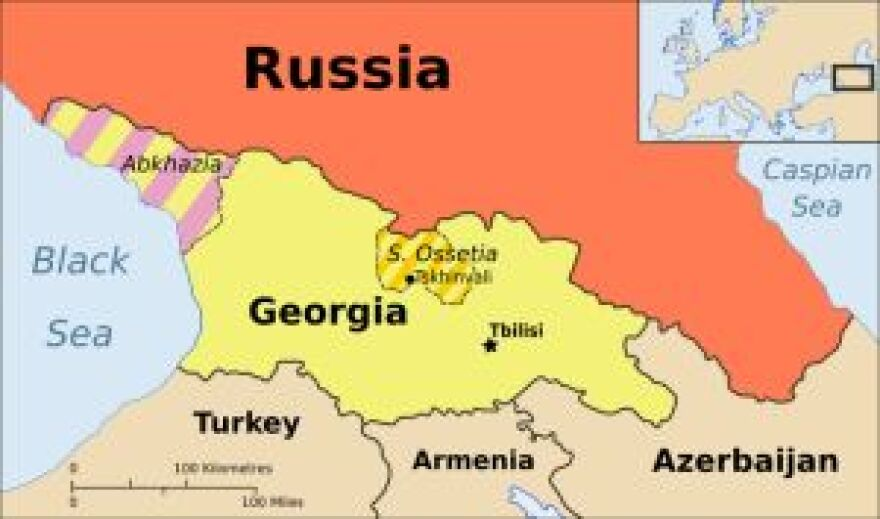 map showing russia and georgia 300 pixels, 2008
